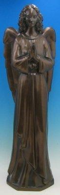 36 inch Outdoor Nativity Standing Angel - Bronze Finish