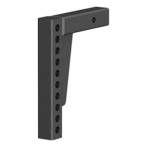 (CURT 17123 Replacement Weight Distribution Hitch Shank Black 2 Receiver, 7-Inch Drop, 10-1/2-Inch Rise)