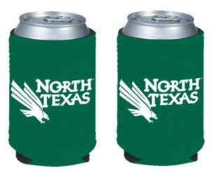 NCAA North Texas University Logo Color Can Kaddy Holder Cooler 2-Pack