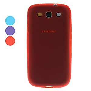 LIMME ships in 48 hours Protective Soft Case and Anti-Spy Privacy Screen Protector for Samsung Galaxy S3 I9300 , Red