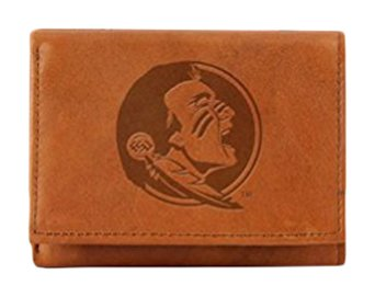 Credit Card Florida State (NCAA Florida State Seminoles Embossed Leather Trifold Wallet)