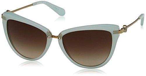 Michael Kors ABELA II MK6039 Sunglasses 315713-56 - Mint Green Frame, Smoke ()