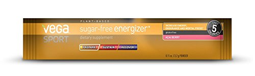 Vega Sport Pre-Workout Sugar-Free Energizer, Acai Berry, 0.11oz, 30 (0.11 Ounce Boxes)