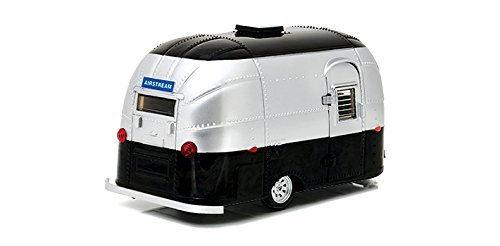 Greenlight 18226 Airstream Bambi 16' Camper Trailer Black / Silver for 1/24 Scale Model Cars and Trucks 1/24 Diecast Model