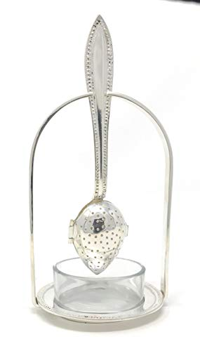 (Madison Bay Company Silver Plated Teaspoon Infuser and Holder Set )