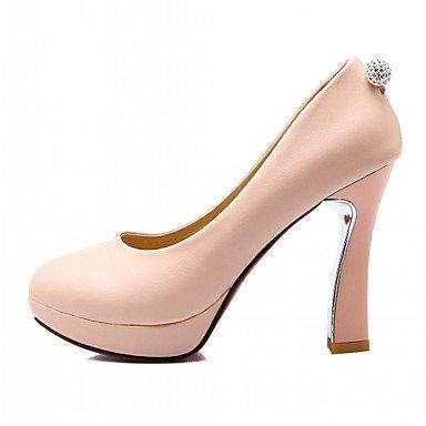 y Confort del partido talón noche Rosa para de de caída Blanco vestido del de Pink la mujeres Chunky Negro oficina y resorte de Talones cuero Carrera las AOwqxZt8
