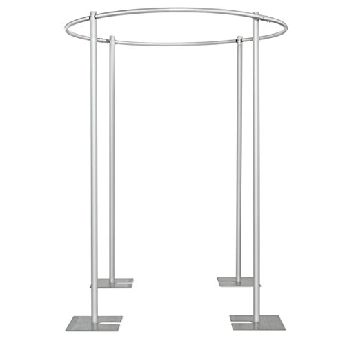 6 ft Round Four Post Canopy Drape Support - 4 Piece by Event Decor Direct
