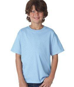 Fruit of the Loom Boys 5 oz.Heavy Cotton HD T-Shirt (3931B) -Light Blue -XL
