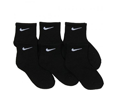 NIKE Young Athletes Kids Quarter Cut Socks (6 Pairs),13C-3Y Shoe/ 6-7 Sock -