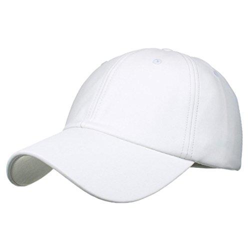 Womens Hats,Women Baseball Men Cap Snapback Hat Hip-Hop Adjustable (White, - Hair Snapback Short