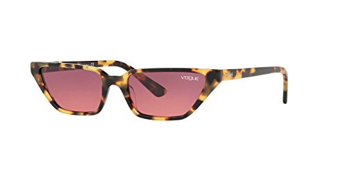 Vogue Womens Sunglasses Tortoise/Purple Acetate - Non-Polarized - 53mm by Vogue