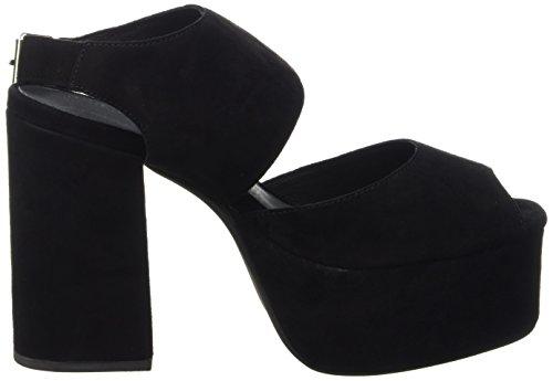 Suede tacón Mujer Negro de con Campbell Umeko Jeffrey zapatos punta Negro abierta OqwXEZa