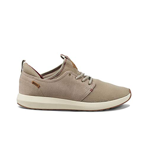 Reef Men's Cruiser Sneakers, Khaki/Cream/Red, 11