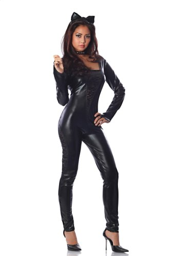Catwoman Different Costumes (Delicious Purrfect Costume, Black, Small)
