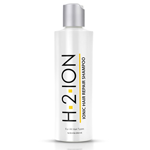 H2 Ion Hair Repair Shampoo -- Thermal Activated Ionic Shampoo for Damaged Hair -- Deep Clean - Lock in Moisture - Restore Shine Body & Bounce - Protect from Heat Styling - Seal Split Ends (8 oz)