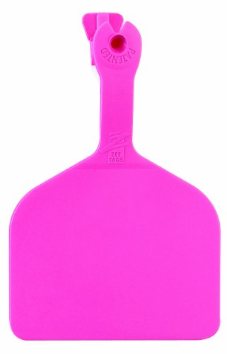 - Z Tags 1000 Count 1-Piece Blank Feedlot Tags, Pink