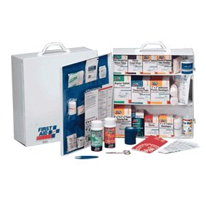 First Aid Only 3 Shelf Industrial First Aid Station with Pocket Liner by First Aid Only