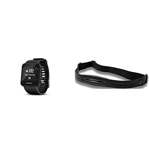 Garmin Forerunner 35 Watch, Black and Heart Rate Monitor Bun