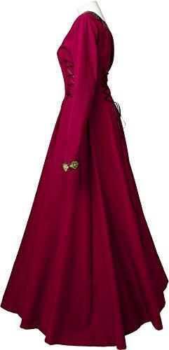 Dornbluth Damen Dornbluth Estelle Damen Mittelalterkleid Bordeaux Mittelalterkleid Hw85pqg8