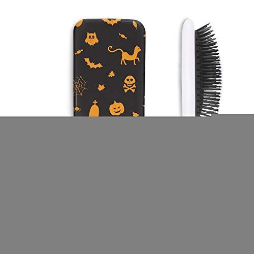 Cute Hair Brush Halloween pumpkin spider owl ghost black Anti-static Unisex Print comfortable Rough Styling Girl Head -