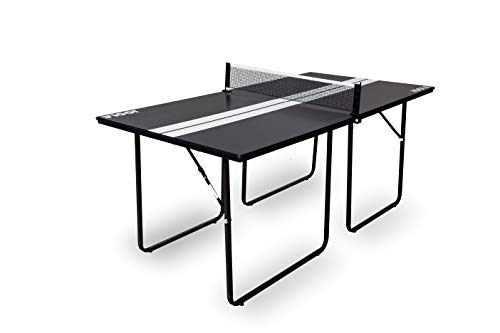 JOOLA Midsize Sport - Regulation Height Table Tennis Table Great for Small Spaces and Apartments - 2/3 Size of Regulation Ping Pong Tables - Compact Storage & Space Saving - Ping Pong Net Set Included (Tables Ping Sale Foldable Pong For)
