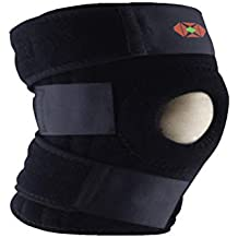 Gedeon Knee Brace Support - For Meniscus Tear & Ligament Injuries - Runner's Knee - Relieves Tendonitis Open Patella Stabilizer & NON-SLIP Neoprene Design – Sport