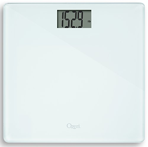 - Ozeri Precision Bath Scale (440 lbs / 200 kg) in Tempered Glass, with 50 Gram Sensor Technology (0.1 lbs / 0.05 kg) and Infant, Pet & Luggage Tare