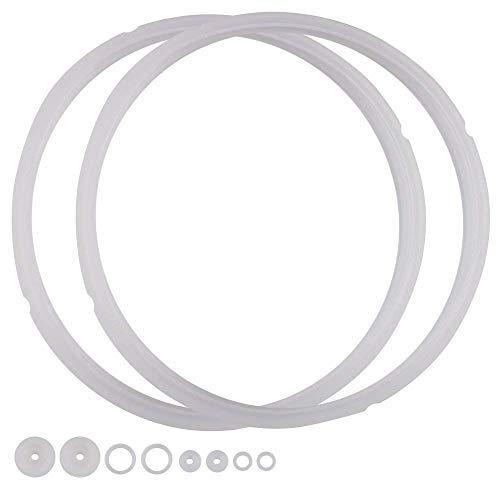 Power Pressure Cooker Sealing Ring Clear Color Multi-Cooker Rubber Gaskets for Many 5 Liter 6 Liter 5 Quart and 6 Quart Models, Set of 2