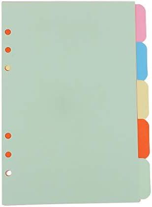 5 teilig A5 Register Trenner Einfügbare Indexseite Karteikarten Registerkarte für Schule Büro - Mehrfarbig