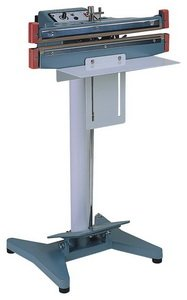 """12"""" Seal and Cut Double Impulse Foot Poly Bag Sealer - 20 mil Thickness, 2mm Width - 1500 W - AIE-300FDC"""
