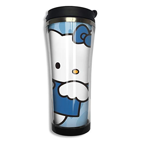 el Mug Hello Kitty Blue Coffee Cup Tumbler with Lid 14.3 Oz ()