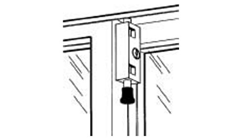 TOLEDO Sliding Door Patio Lock TDP02S Silver Finish - Works With Aluminum, Steel, Wood Or PVC Swinging Or Sliding Doors by Toledo & Co. (Image #3)
