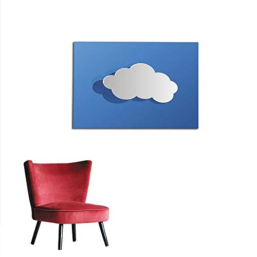 "homehot Photo Wall Paper Cut Out Cloud Blue Paper Mural 32""x24"""