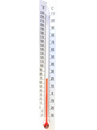 ajax scientific dual scale thermometer with metal back 30 to 110