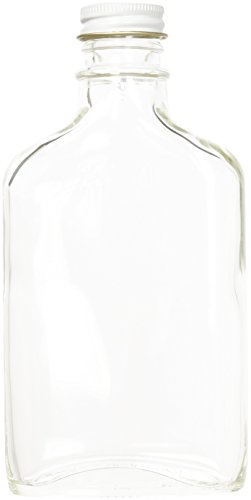 Home Brew Ohio 200 ml Glass Flask with Metal Screw Cap-6Count