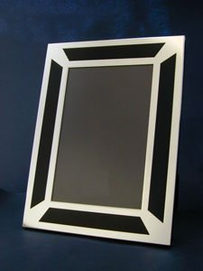 Sterling Silver Black Art Deco Style Photo Frame 6 X 4 Amazon