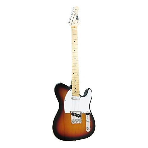 R&B RBTL101 Tele Style Electric Guitar, Tobacco Sunburst (Tele Style Guitar)