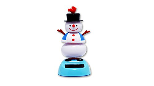 Solar Powered Bobblehead Toy Figure - Dancing Snowman