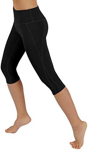 ODODOS by Reflex Women's Tummy Control Workout Running Pants Yoga Capri Leggings With Hidden Pocket