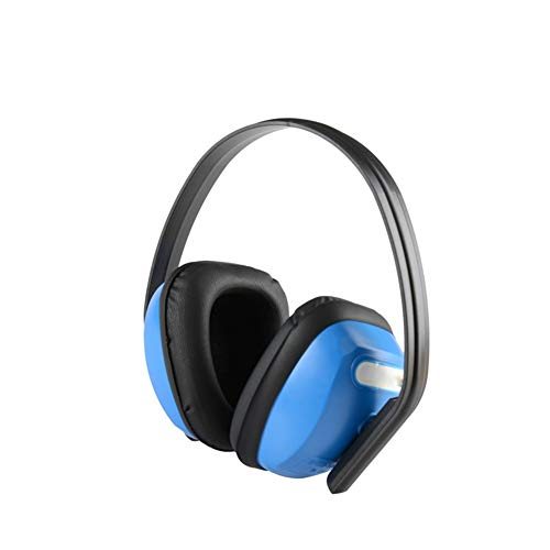 Noise Cancelling Headphones, Head-Mounted Adult Soundproof Earmuffs Noise Reduction Headphones (Blue) by Noise canceling headphones (Image #1)