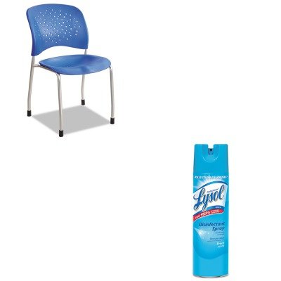 KITRAC04675EASAF6805LA - Value Kit - Safco Rve Series Guest Chair W/ Straight Legs (SAF6805LA) and Professional LYSOL Brand Disinfectant Spray (RAC04675EA)