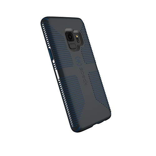 Speck Products Compatible Phone Case for Samsung Galaxy S9, CandyShell Grip Case, Charcoal Grey/Deep Sea Blue