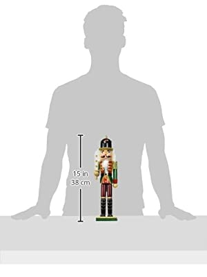 Nantucket Home Wooden Christmas Nutcracker Decor, 15-Inch