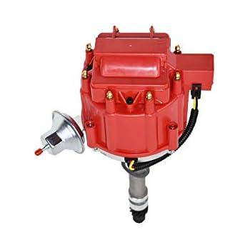 Chevy Big /& Small Block 350 454 HEI Distributor 65K Coil Red Cap w// Tach Drive