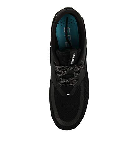 Mens SEAS 7 Eye Black 3 Men Sport Leather Mens Shoes Black Sperry Sneakers p8wxZASS