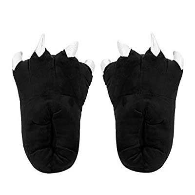 Unisex Paw Claw Slippers Fuzzy Animal Slippers Warm Animal Home Shoes Footwear | Slippers