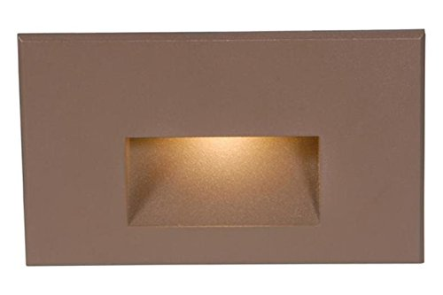 120V Rectangular Scoop Step And Wall Light W/ Amber Lens by WAC Lighting