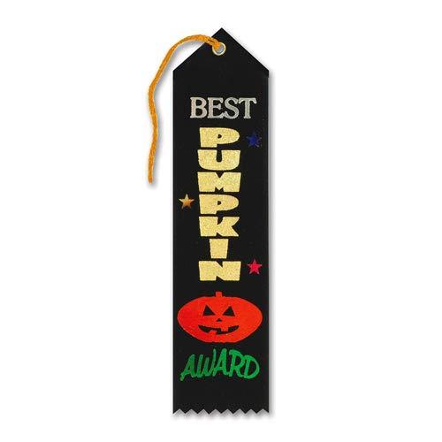 Beistle HAR518 Best Pumpkin Award Ribbon, 2