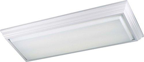 Minka Lavery Flush Mount Ceiling Light 1002-44-PL Linear Fixture, 4 Light, 128 Watts Fluorescent, (Single Fluorescent All Glass Strip)