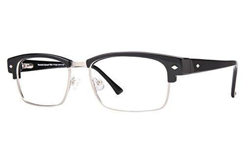 Revolution Mens Eyeglasses - Revolution 711 Men's Eyeglass Frames - Black/Grey Clip-On